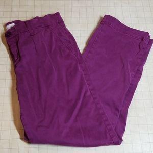 Lila Ryan Cropped Trousers size 4 Plum